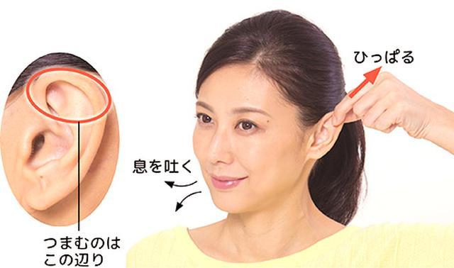 画像1: 「耳ひっぱり」のやり方
