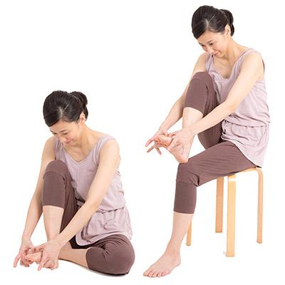 画像2: 「足の指のまた押し」のやり方
