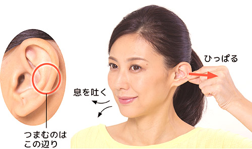 画像2: 「耳ひっぱり」のやり方