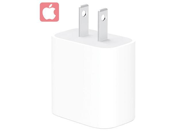 画像: アップル純正の18ワット電源アダプター。8以降のiPhoneやiPad Proなどの充電に対応する。接続口はUSB Type-Cで、ケーブルは別売。