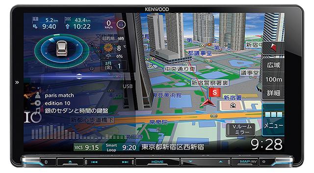 画像: ケンウッド 彩速ナビゲーション MDV-M906HDL