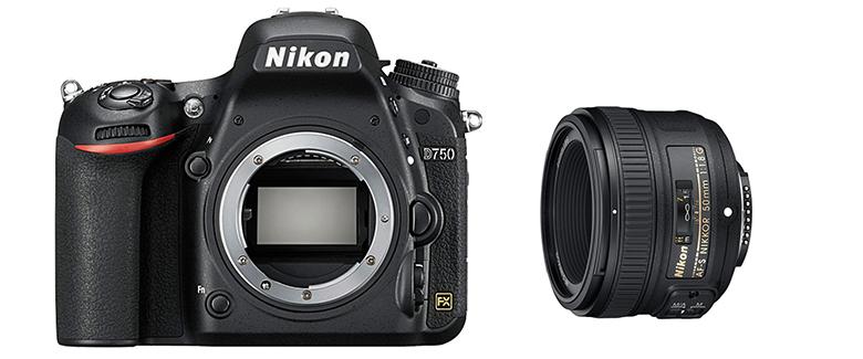 画像: 一眼レフ用のAF-S 50㎜ f/1.8Gは、手ごろな価格で小型軽量なのが魅力。D750と組み合わせても1025グラムと、ミラーレス一眼のZ6より軽い。
