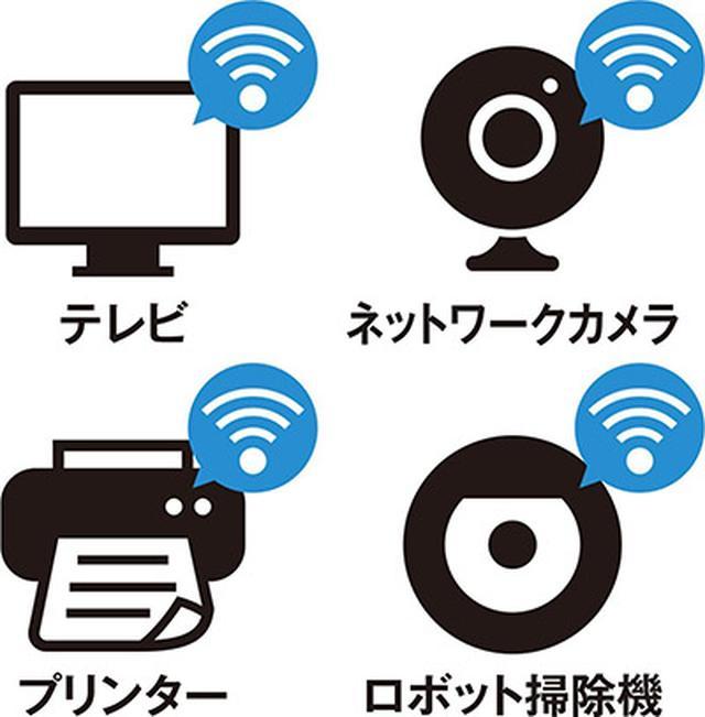 画像: スマホやパソコン以外にも、さまざまな機器がWi-Fiに対応している。