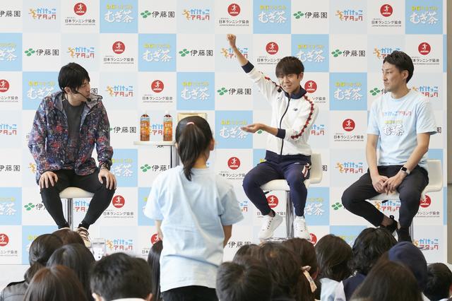 画像: 神野選手とのトークイベント 子ども達からは多くの質問が!
