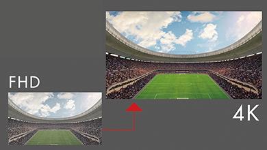 画像: ※写真は、パナソニックの「4Kファインリマスターエンジン」のイメージ。4KテレビでHD映像を見る場合、2K/4K変換が不可欠で、この部分のよしあしがそのまま画質を左右することになるので、要注意だ。