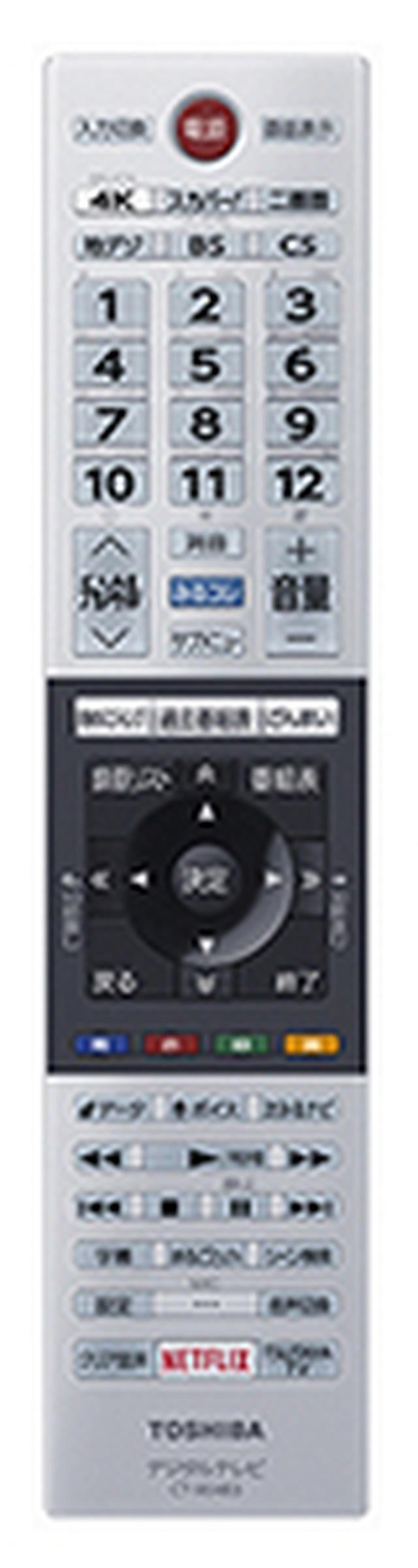画像: リモコン中央に最大6チャンネル(地デジ)の録画が可能なタイムシフトマシン関連のボタンを集約する。