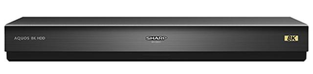 画像: シャープ製の8KテレビであるAX1シリーズか、上のC00AW1との組み合わせで使用するUSB HDDレコーダー。容量は4Tバイト×2で計8Tバイト。