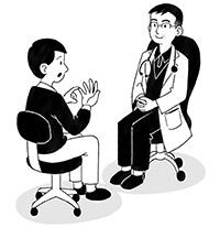 画像: 座り姿勢がよくなり長時間の診察も楽になった