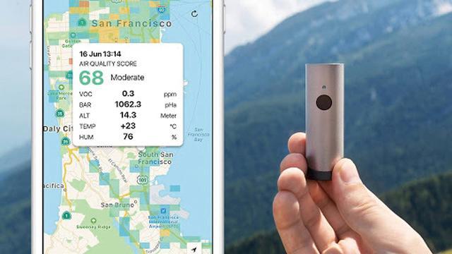 画像: 海外旅行など、見知らぬ土地に出かけた際に、大気汚染の状況をチェックすることができる。