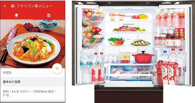 画像: COCORO KITCHENと連係して便利に利用できる冷凍冷蔵庫