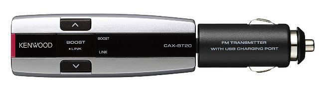 画像: スマートなデザインのケンウッド製Bluetooth搭載FMトランスミッター「CAX-BT20」。本体色は3色から選べる。