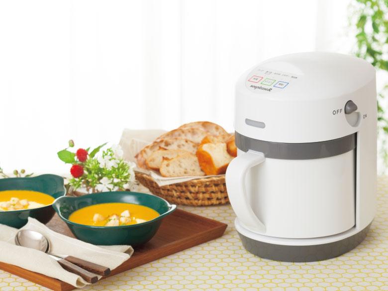 画像: 材料を入れてボタンを押すだけで本格的なスープを作れる調理家電