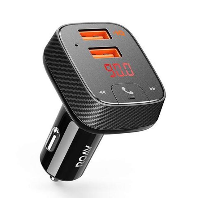 画像: Ankerの「Roav FM Transmitter F2」は2ポートのUSB充電端子を備え、独自のPowerIQとVoltageBoost技術の組み合わせにより高速充電が可能。