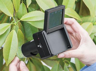 画像2: スタンドでも手持ちでも使える倍率220倍のデジタル顕微鏡