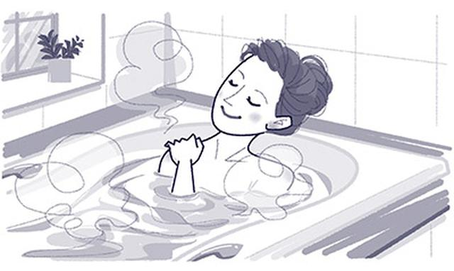 画像: 夜の長湯がオススメ!