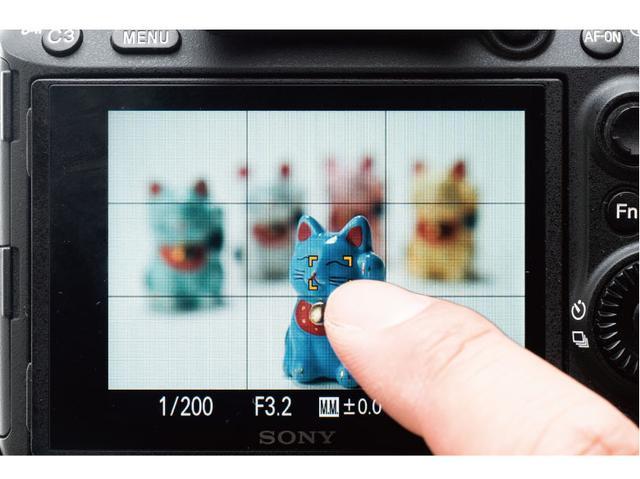画像: スマホ感覚で画面にタッチして好きな位置にピントを合わせたり、そのままシャッターも切ったりすることができる。