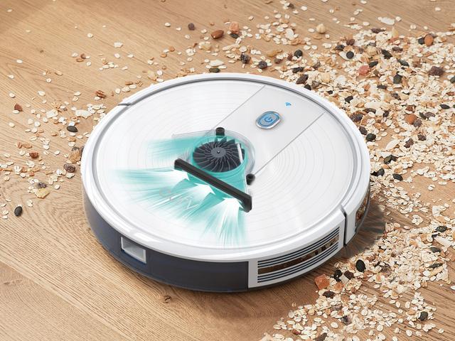 画像2: スマホアプリで遠隔操作できる超スリム設計のロボット掃除機