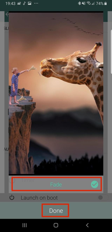 画像2: 写真切り替え時のエフェクトを変更