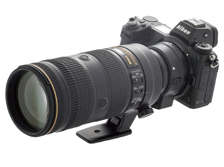 画像: ニコン・Z6にマウントアダプター・FTZを使って同社の一眼レフ用のレンズ(70~200mmF2.8)を装着。