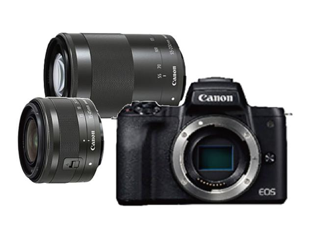 画像: ボディ EF-M15-45mm F3.5-6.3 IS STM(標準レンズ) EF-M55-200mm F4.5-6.3 IS STM(ズームレンズ)
