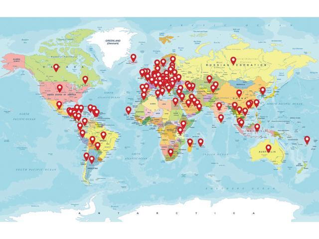 画像: 2019年2月現在、内蔵のグローバルSIMを使って世界126の国と地域で使うことが可能。購入して2年間は、通信が使い放題になる。