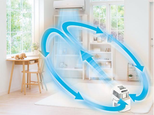 画像: 角度調整ができるため、部屋の空気を循環させるサーキュレーターとしても活用可。