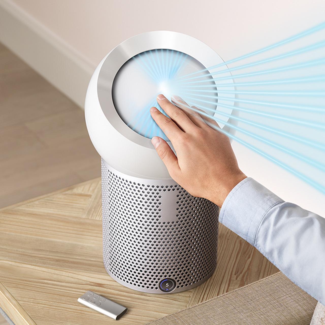 画像: 花粉やバクテリア、においを除去。クリーンな空気を部屋中に飛ばす