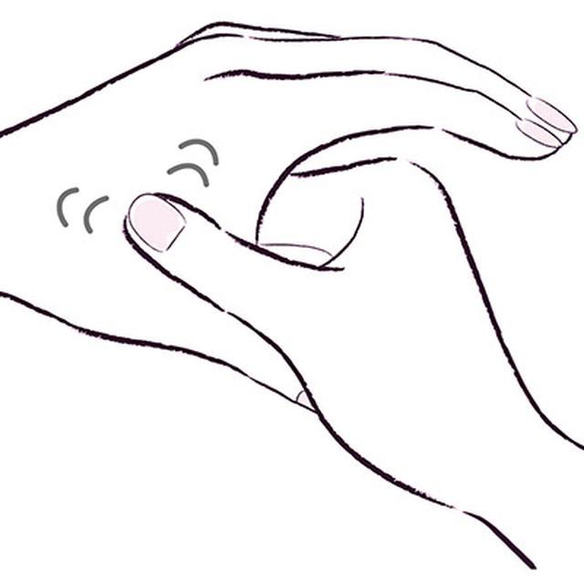 画像2: ②手のツボ押しマッサージ