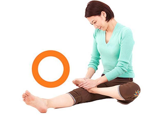 画像: 骨盤を立てる、姿勢を正す、意識を丹田におく、息を吐きながら押す