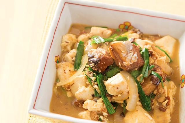 画像: サバ缶と豆腐の煮物