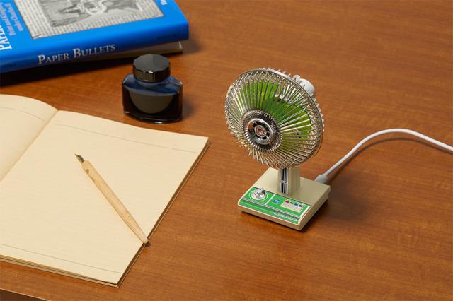 画像: 扇風機のフォルムや機能をそのままミニチュア化した「昭和扇風機」