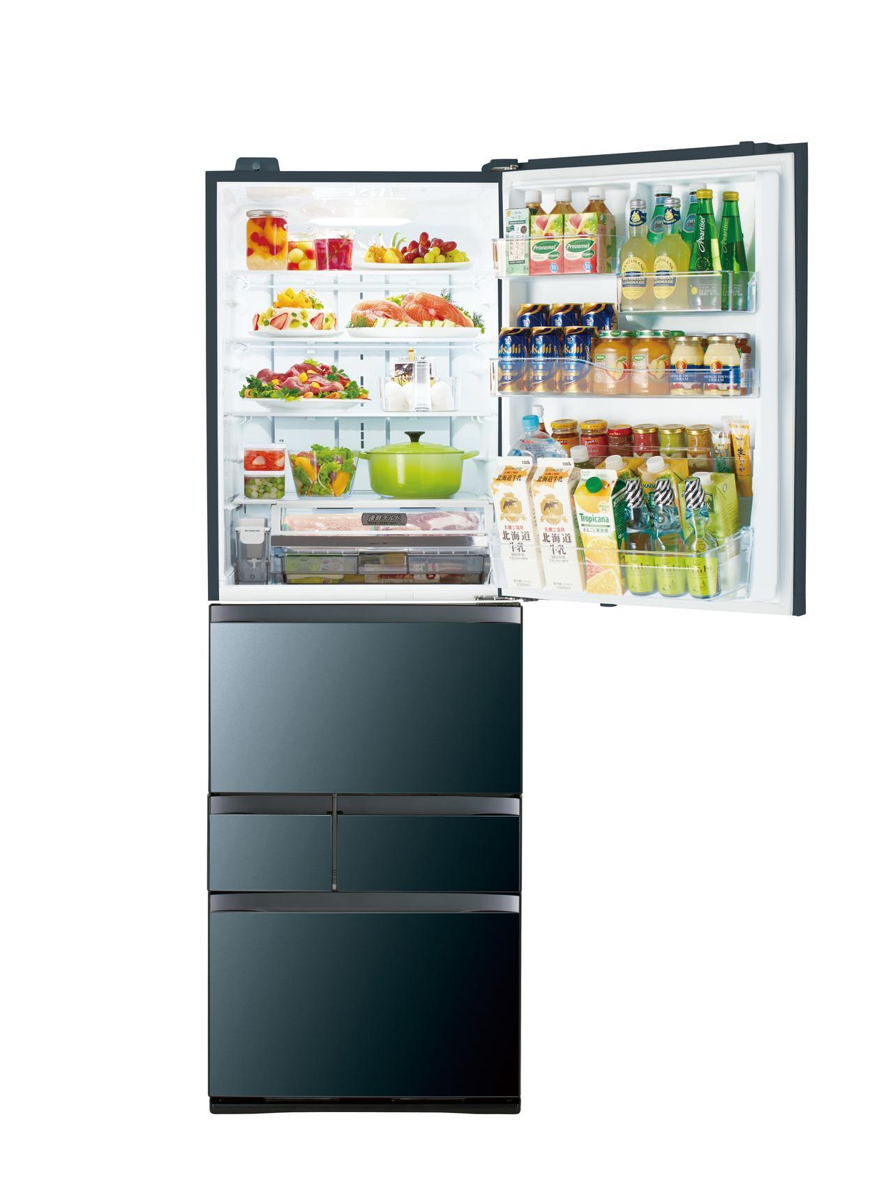 画像1: 幅60センチで501リットルの大容量を実現したスリムな冷蔵庫