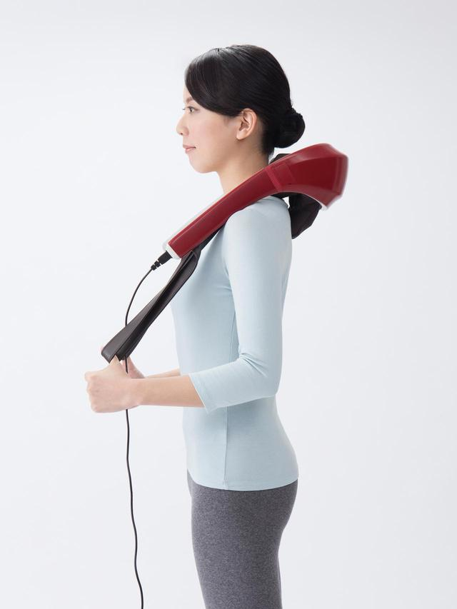 画像1: 【マッサージ器】人の手に近いもみ心地を実現 首や腰に当てるだけで効果的なマッサージを実現