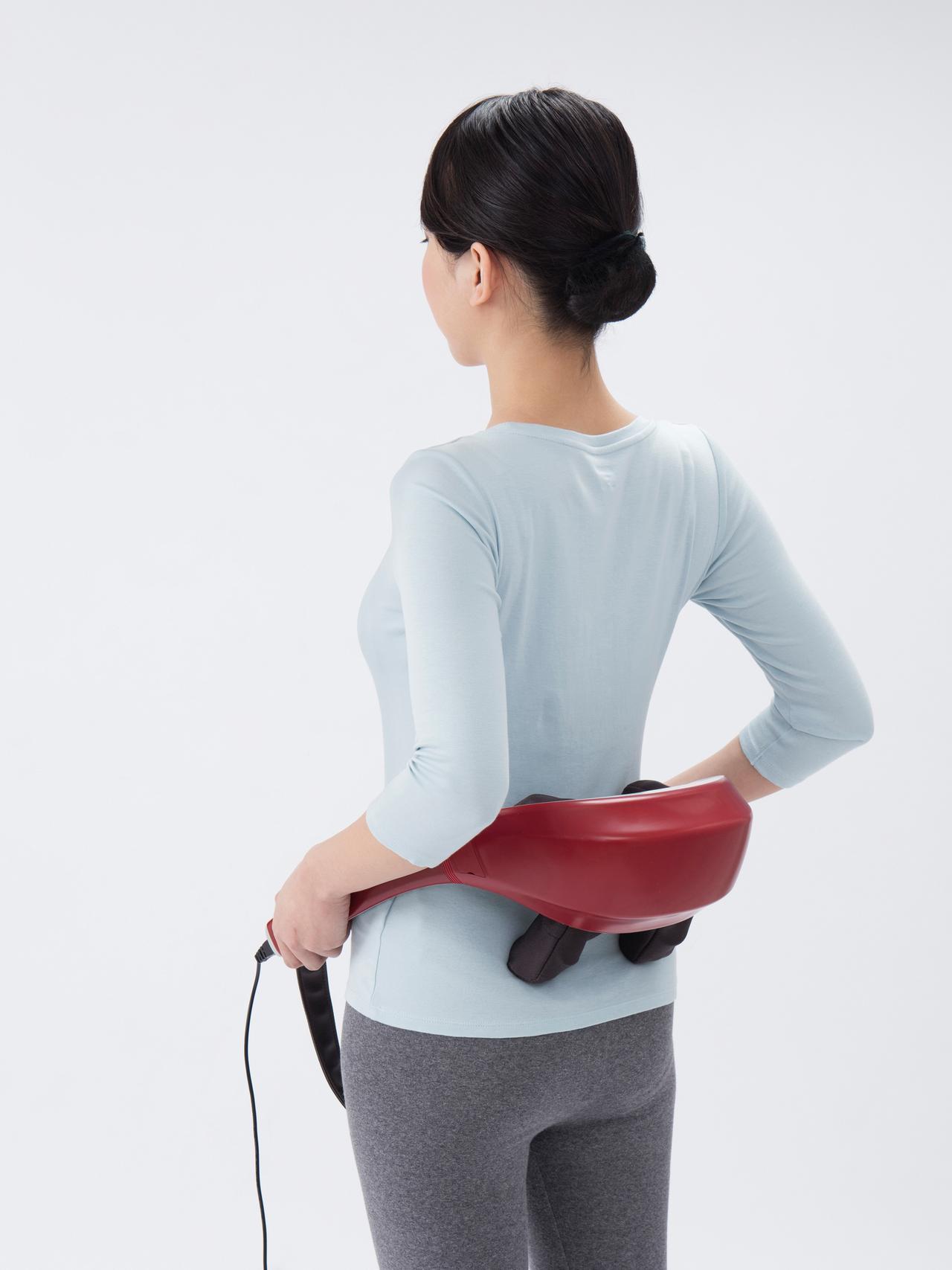 画像2: 【マッサージ器】人の手に近いもみ心地を実現 首や腰に当てるだけで効果的なマッサージを実現