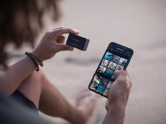 画像: 専用アプリ「DJI Mimo」を使って、カメラのコントロールや映像編集、SNSへのシェアなどが可能。