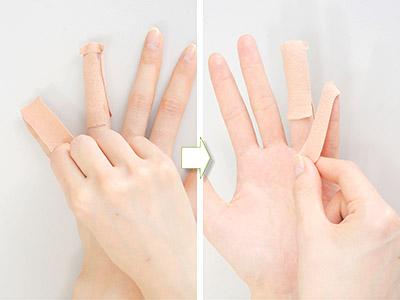 """画像8: ひざ痛を改善する""""手指""""のテーピングのやり方 間接的に刺激して痛みを緩和する!"""