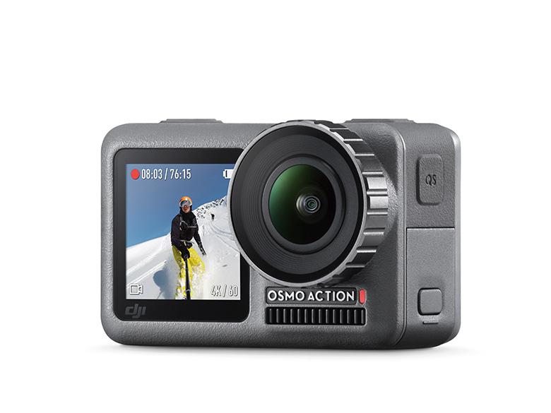 画像: DJIのアクションカメラ「OSMO ACTION」が登場! レンズ側にもディスプレイを搭載した注目モデル