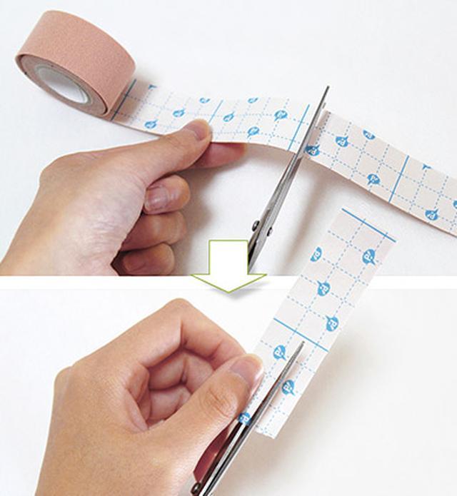 """画像12: ひざ痛を改善する""""手指""""のテーピングのやり方 間接的に刺激して痛みを緩和する!"""