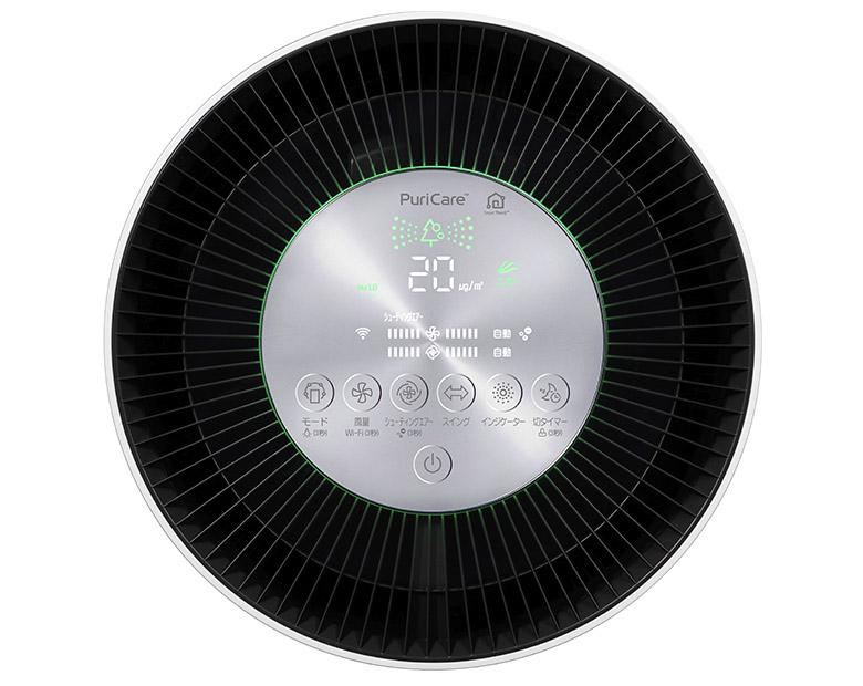 画像: ホコリやニオイの状況を色とイラストで確認可能。出先から電源をオフにしたり、帰宅の少し前に電源をオンにしたりと、スマートフォンで遠隔操作もできる 。