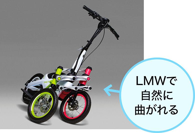 画像: 3輪ながら、コーナリング時に自然に車体を傾けることができるので、バイクや自転車に乗れる人なら、これまでどおりの感覚でOK。