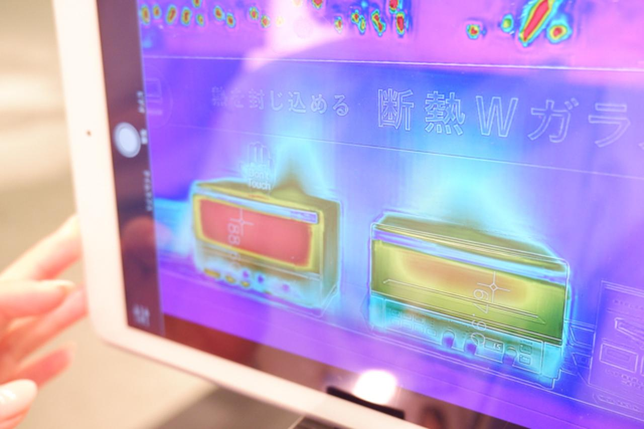 画像: 左)いままでのオーブントースター、右)KAT-A130。今は、iPadでサーモグラフィーをライブで映すことも可能。
