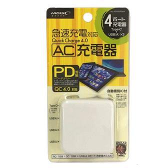 画像: 磁気研究所の「Quick Charge4.0」対応USB充電器で、当然「USB PD」充電もこなせる。Type-C端子のほか、通常のUSB充電に対応した3基のType-A端子を搭載するなど、なかなか使い勝手の優れた一品だ。