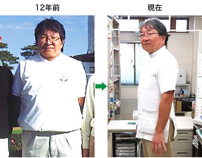 画像: 90kgから最大70kgまでやせた寺師先生(現在は78kg)