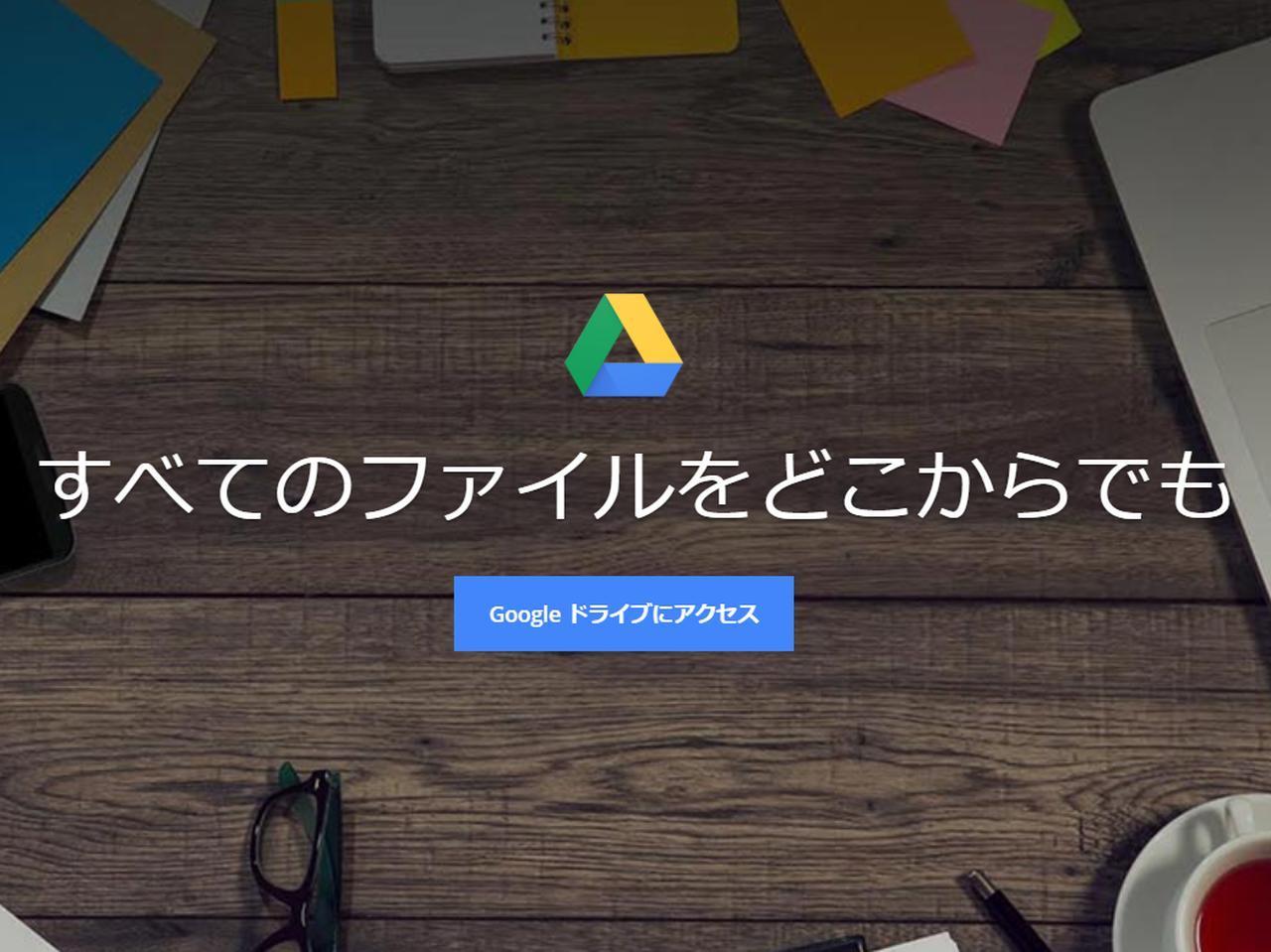 画像: ④手持ちのGoogleアカウントがあるならすぐに使える! Googleドライブ