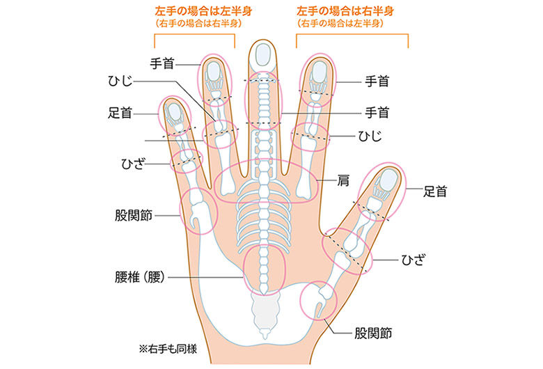 画像2: 【手もみの治療地図】痛い部分を「集中的」に揉んで心身の不調を改善!