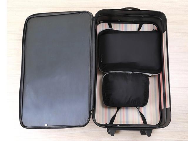 画像: スーツケース内の空きスペースが大幅に広くなる。