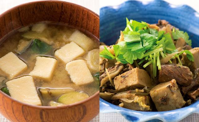 画像: ◆煮物やみそ汁、鍋料理に 1日1枚を目安に、いろいろな料理に高野豆腐を加えている。鎌田先生が名誉院長を務める諏訪中央病院では、ピザの生地に高野豆腐を使っている。