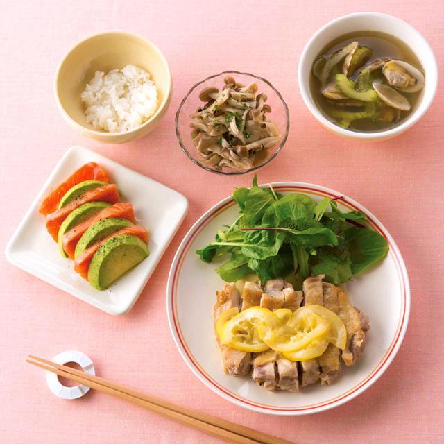 画像2: たんぱく脂質食の献立例