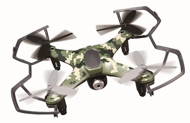 画像: SDカードに撮影映像を保存するタイプのカメラ搭載ドローン。操縦補助関連の機能はフル装備なので、初心者でも十分に楽しめる。スマホ連携機能はない。機体全長約170ミリ