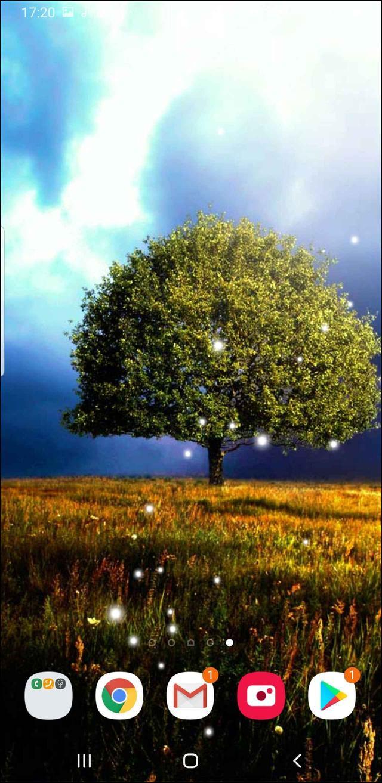 画像: 見渡す限りの大草原のなか、空を飛ぶ鳥や、宙を舞う幻想的な光を美麗なアニメで表現している。